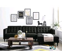 Black sectional sofa. Toronto