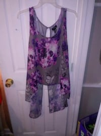 women's purple and pink floral sleeveless dress Chalmette