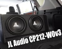 Jl audio cp212 subwoofer with amp