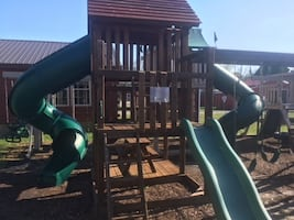 Premium Wood Skyfort Play System - payment options available