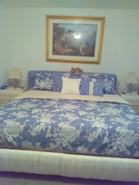 Bed and mattress sheets and decor sold separately  Attleboro, 02703