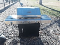 silver and black gas grill