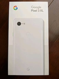 Box & Accessories ONLY Google Pixel 3 XL 64/128GB Clearly White Markham, L3P 1Z4