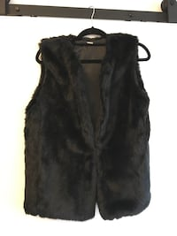 Brand New Black Faux Fur Vest