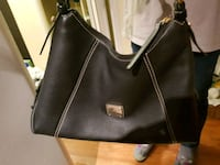 black leather Dooney & Burke 2-way handbag Richmond