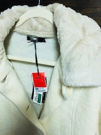 Beige Faux Fur Italian Coat - size S San Francisco, 94103