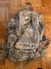Gray and black camouflage backpack Alexandria, 22308