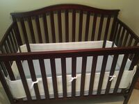 Crib, Mattress, and Mesh Breathable Crib Bumper - Baby Cherry Wood Bear, 19701