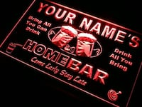 Personalized Custom Home Bar  LED Light Mt Holly, 28120