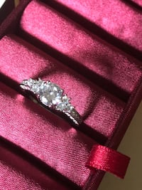 Sterling Silver Cubic Zirconia Ring . Size 10 West Palm Beach, 33417