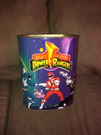 Vintage Mighty Morphing Power Rangers Trash Can Fargo, 58103