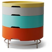 Multicolor storage side table, price is firm. Lanham, 20706