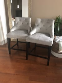 4 Upholstered Counter Height Chairs Owings Mills