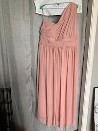 Dusty Rose one shoulder chiffon dress Daly City, 94015