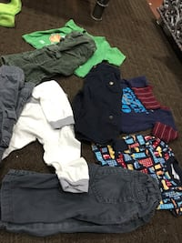 4 pairs of baby boy jeans and shirt for 3-6 month good condition  Vaughan, L6A 3A4