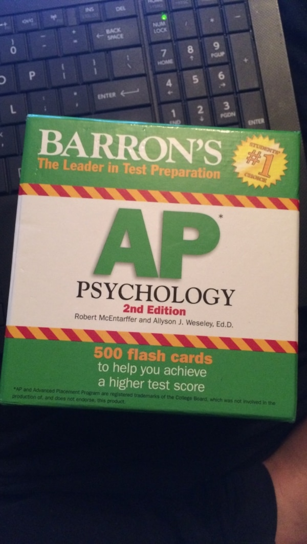 Used Barrons The Leader In Test Preparation Ap Psychology 2nd