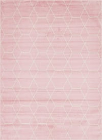 8x10 Pink and Ivory Area Rug