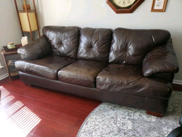 Brown leather sofa set $150 or FREE see details