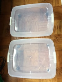 2 underbed boxes with wheels