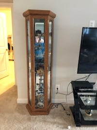 brown wooden framed glass display cabinet Sterling, 20166