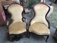 Victorian ladies and gents parlor chairs