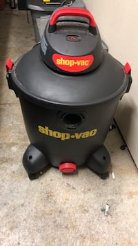 black and gray Shop-Vac wet and dry vacuum