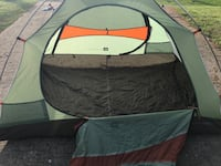 gray and red dome tent Clay, 35126