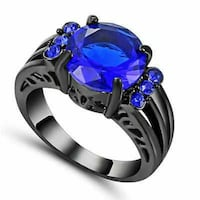 Size 6 Women's Ring Black/Blue #00089 Lancaster, 17602