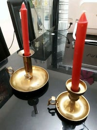 Solid brass handmade candleholders  Mississauga, L5L