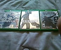 three Xbox One game cases Simcoe, N3Y 4K6