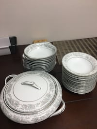 Silver lined China set with floral decor. Full set price Tsawwassen, V4M 4E1