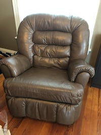 brown leather recliner sofa chair 383 mi