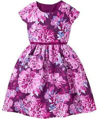 New floral dupioni dress Christmas purple floral dress 5 and 6