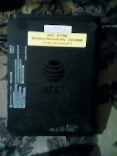 black At&T LED projector