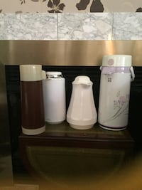 Thermos ($10 large, $5 small one each , $3 brown one) or $20 all