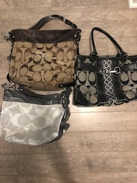 Set of 3 coach bags Toronto, M2N 6R6