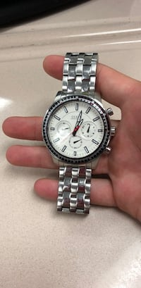 round silver Michael Kors chronograph watch with link bracelet Rohnert Park, 94928
