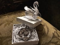 Double band silver plated ring in swan gift box sizes 6,7,8,9 Brampton, L6V 3X9