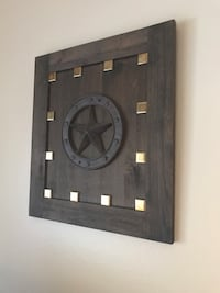 Texas Designed Wooden Wall Plaque. Approximately 18 inches x 16 inches x 1/2 inch thick. San Antonio, 78209