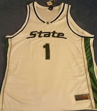 Throwback! NWT! MICH. STATE # 1 BASKETBALL Jersey!