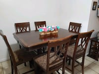 Solid Dark Wood Kitchen/Dining Room Table Roy, 84067