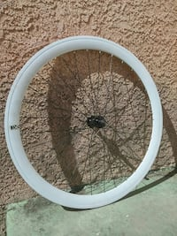 Front white bicycle rim Long Beach, 90805