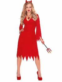 women's red and white long-sleeved dress