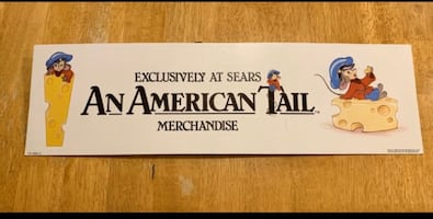Disney Sears An American Tail Store Display Sign