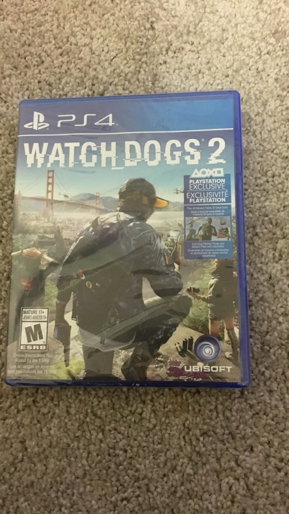 PS4 Watch Dogs 2 case