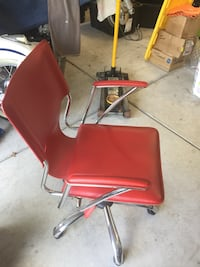 Leather RED OFFICE CHAIR