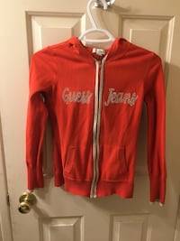 Red and white zip-up jacket Calgary, T3H 0R9