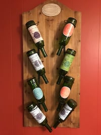 Wall Art wooden wine bottle rack display   Houma, 70364