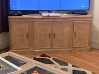 Dining table tv stand and showcase