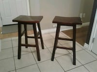 rectangular brown wooden table with two chairs Edmonton, T6X